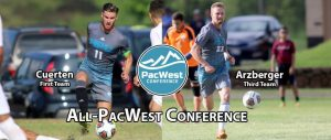 Cuerten, Arzberger Chosen To Men's All-PacWest Team