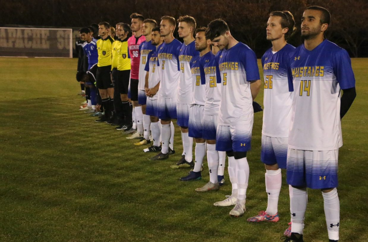 NJCAA Champions Line Up for National Anthem