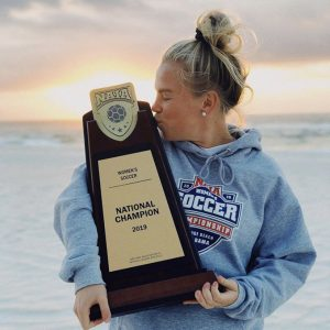 Maxi Krug with National Championship Trophy
