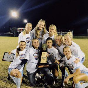 Keiser University Women's Soccer Player after winning the national championship