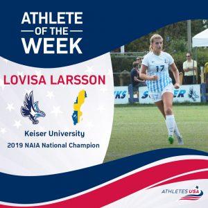 Lovisa Larsson Athlete of the Week Athletes USA