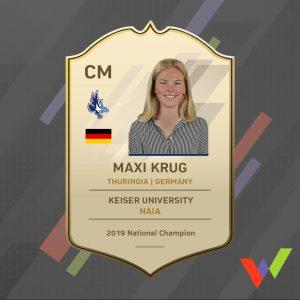 Maxi Krug WARUBI Sports Player Card