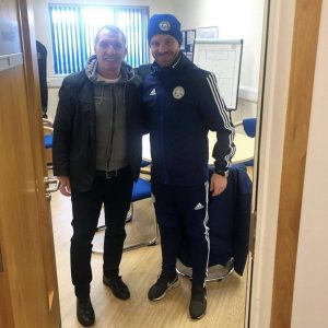 Michael Holzer with Brendan Rodgers