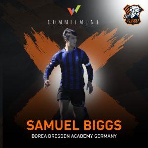 Samuel Biggs joins SC Borea Dresden's U19 for the Spring 2021