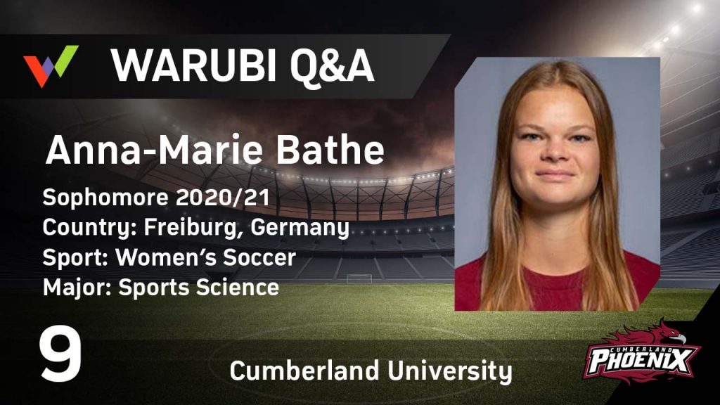Exclusive Interview with Anna-Marie Bathe - Women's College Soccer in the USA
