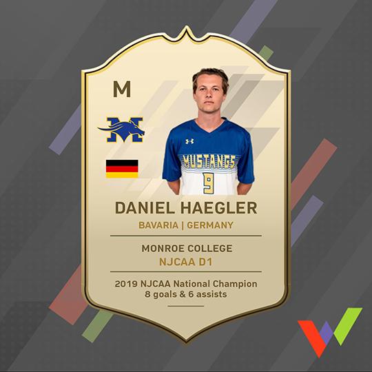 Daniel Haegler awards before NJCAA transfer to NCAA