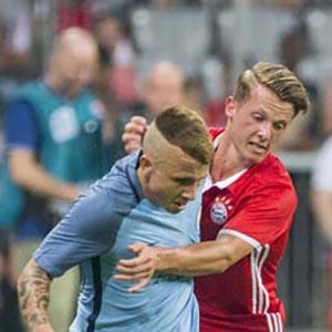 Daniel Haegler playing for Bayern Munich against Manchester City in a friendly