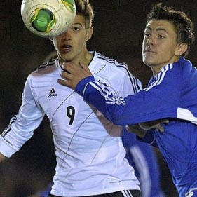 Luca Erhardt playing for Germany's Youth National Team