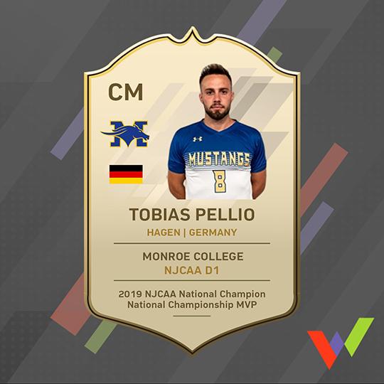 Tobias Pellio Awards before NJCAA transfer to NCAA