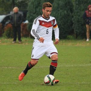 Tobias Pellio playing for Germany's Youth National Team